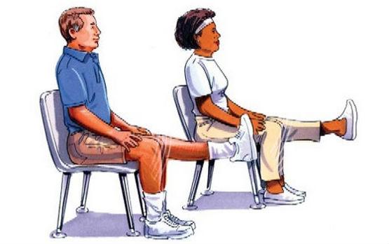 гимнастика на стуле