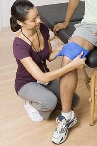 наложение повязки на колено
