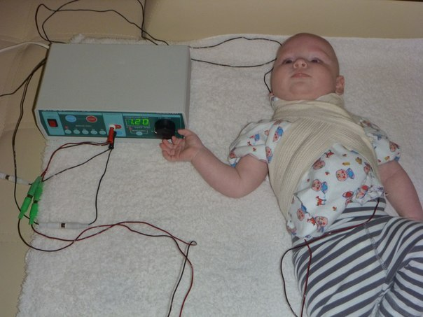 Электрофорез для грудничка на шее