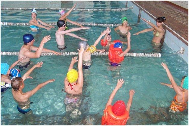 упражнение в воде